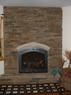 Fire places, gas and wood burning